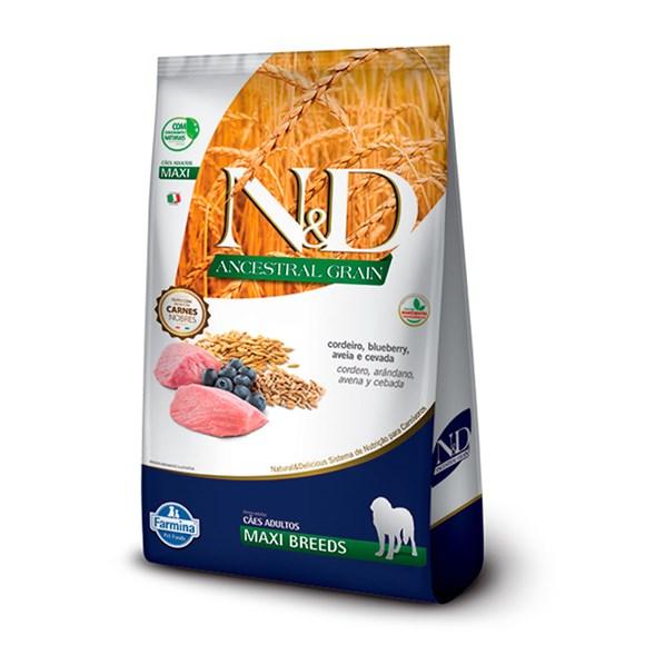 Ração N&D Ancestral Cães Adultos Maxi Cordeiro - 10,1kg