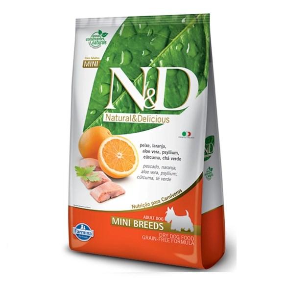 Ração N&D Grain Free Cães Adultos Mini Peixe – 800g