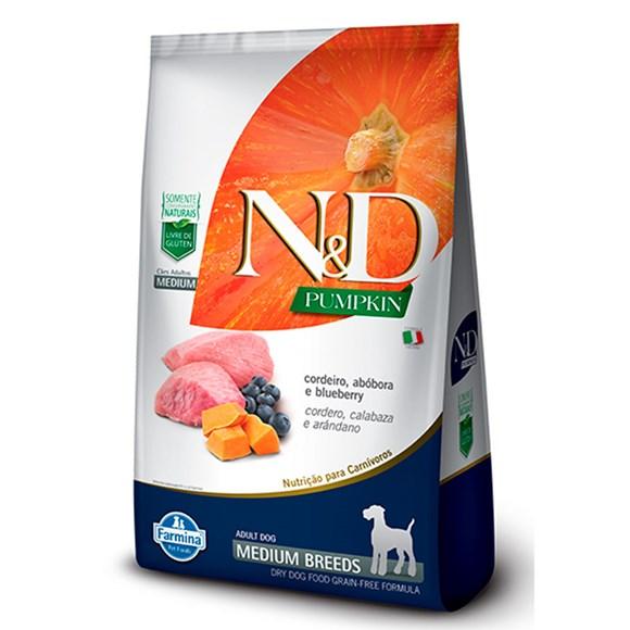 Ração N&D Pumpkin Cães Adultos Cordeiro Raças Médias – 10,1Kg