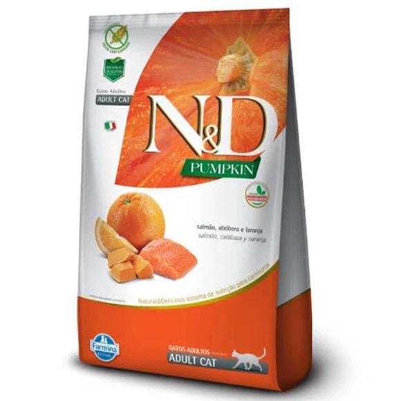 Ração N&D Pumpkin Gatos Adultos Salmão
