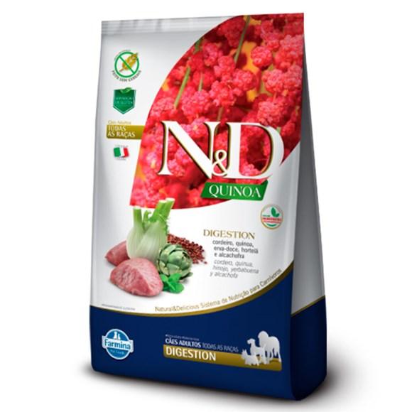 Ração N&D Quinoa Cães Adultos Digestion Cordeiro