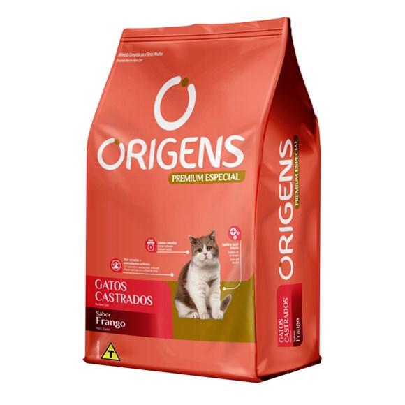 Ração Origens Gatos Castrados Frango - 10,1kg