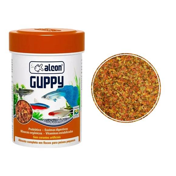 Ração Para Peixes Alcon Guppy Flocos - 10g