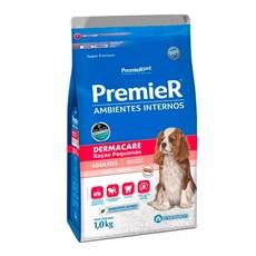 Ração Premier Ambientes Internos Cães Adultos Dermacare Raças Pequenas Salmão