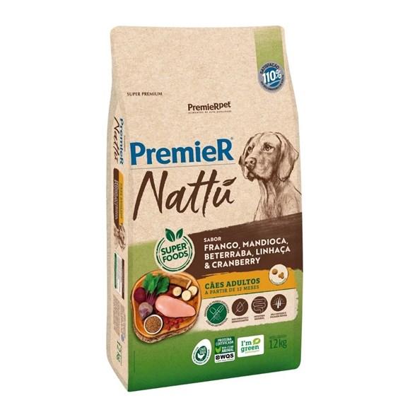 Ração Premier Nattu Cães Adultos Mandioca – 12kg
