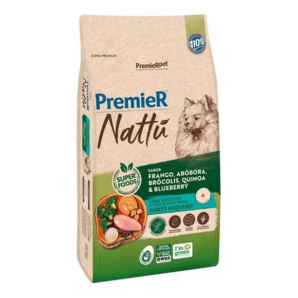 Ração Premier Nattu Cães Adultos Pequeno Porte Abóbora – 10,1kg
