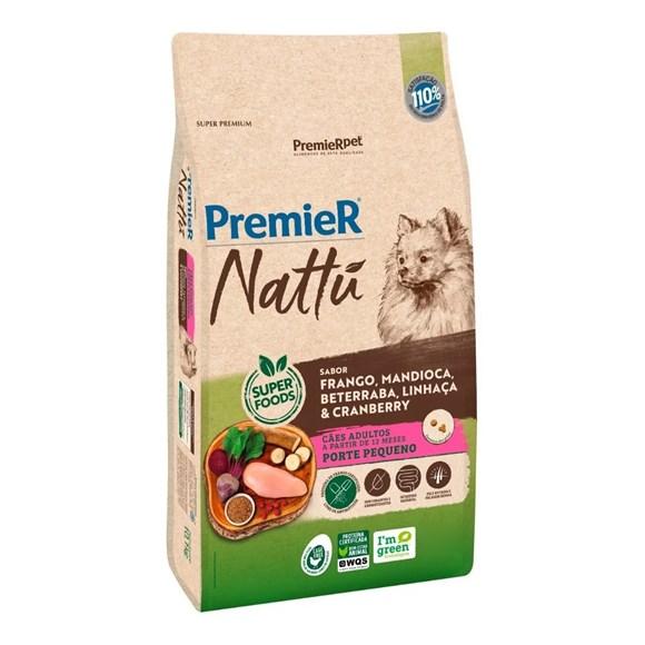 Ração Premier Nattu Cães Adultos Pequeno Porte Mandioca – 1kg