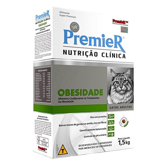 Ração Premier Nutrição Clinica Obesidade Gatos Adultos