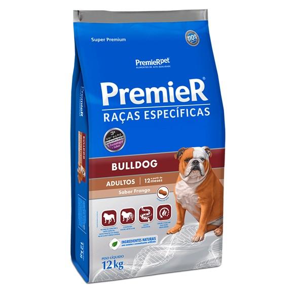 Ração Premier Raças Específicas Bulldog Cães Adultos Frango