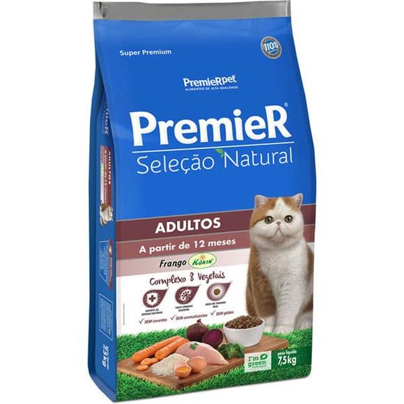 Ração Premier Seleção Natural Gatos Adultos Frango