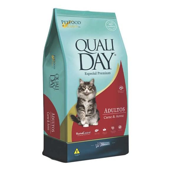 Ração Qualiday Gatos Adultos Carne - 3kg