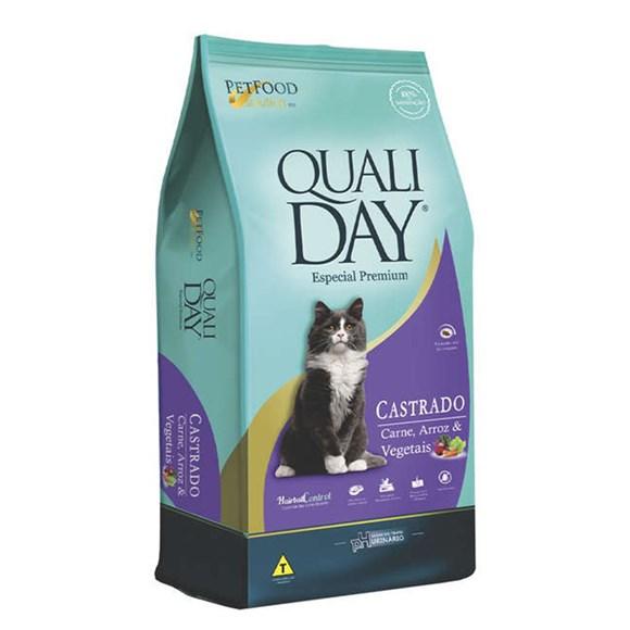 Ração Qualiday Gatos Adultos Castrados Carne - 10,1kg