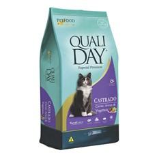 Ração Qualiday Gatos Adultos Castrados Carne - 3kg