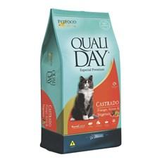 Ração Qualiday Gatos Adultos Castrados Frango - 10,1kg