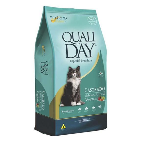 Ração Qualiday Gatos Adultos Castrados Salmão - 10,1kg