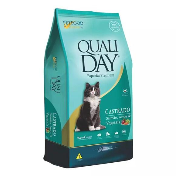 Ração Qualiday Gatos Adultos Castrados Salmão - 3kg