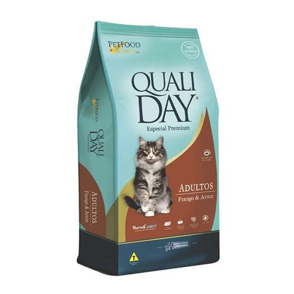 Ração Qualiday Gatos Adultos Frango - 3kg
