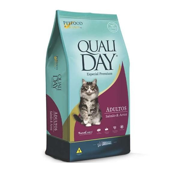 Ração Qualiday Gatos Adultos Salmão - 10,1kg