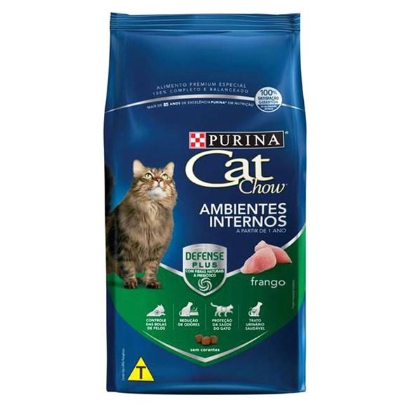 Ração Seca Cat Chow Ambientes Internos Frango - 10,1kg