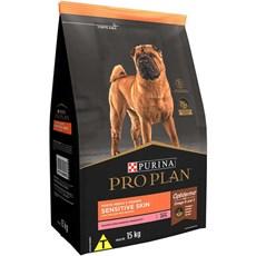 Ração Seca Pro Plan Sensitive Skin Cães Adultos Salmão - 15kg