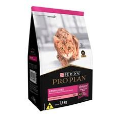 Ração Seca Pro Plan Sterilized Gatos Adultos Salmão - 7,5kg