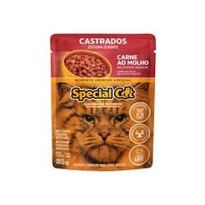 Ração Special Cat Sachê Gatos Castrados Carne – 85g