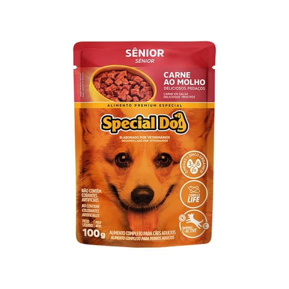 Ração Special Dog Sachê Cães Sênior Carne – 100g