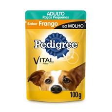 Ração Úmida Cães Adultos Frango ao Molho 100g Pedigree