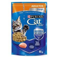 Ração Úmida Cat Chow Sachê Adultos Frango ao Molho - 85g