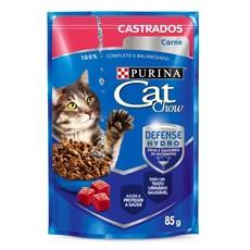Ração Úmida Cat Chow Sachê Filhotes Carne ao Molho - 85g