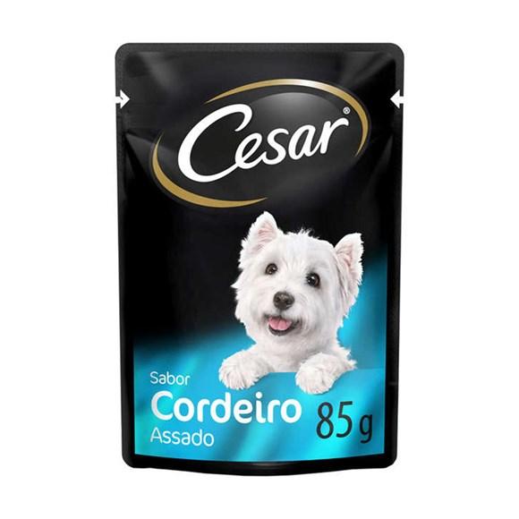 Ração Úmida Cesar Sachê Cães Adultos Cordeiro Assado - 85g