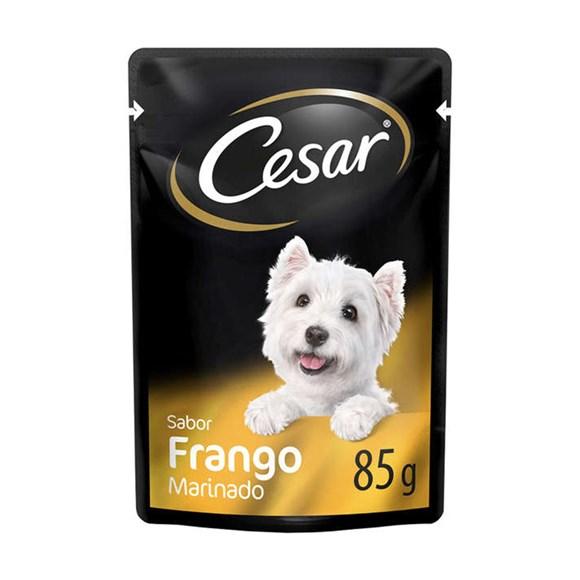 Ração Úmida Cesar Sachê Cães Adultos Frango Marinado - 85g
