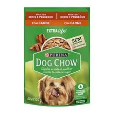 Ração Úmida Dog Chow Sachê Adultos Carne Raças Pequenas - 100g