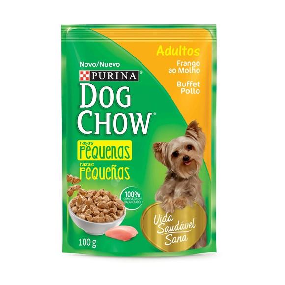 Ração Úmida Dog Chow Sachê Adultos Frango - 100g
