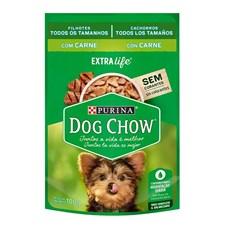 Ração Úmida Dog Chow Sachê Filhotes Carne -100g