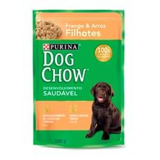 Ração Úmida Dog Chow Sachê Filhotes Frango e Arroz - 100g