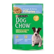 Ração Úmida Dog Chow Sachê Filhotes Frango e Arroz Raças Pequenas - 100g