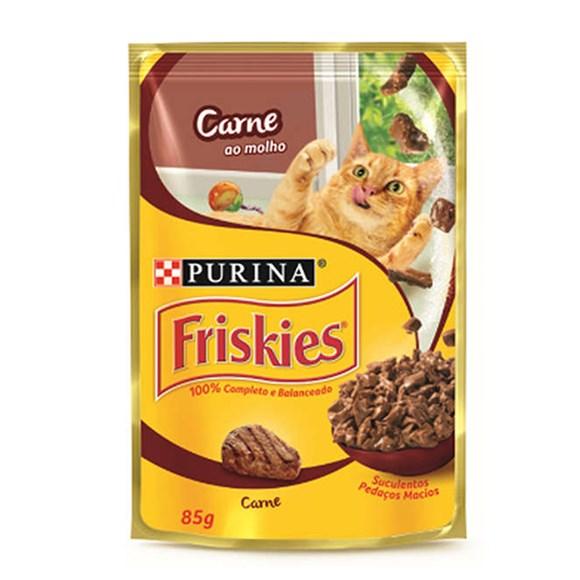 Ração Úmida Friskies Sachê Gatos Adultos Carne - 85g