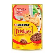 Ração Úmida Friskies Sachê Gatos Filhotes Carne - 85g