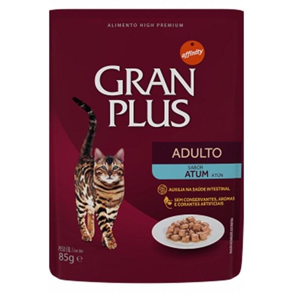 Ração Úmida Gran Plus Sachê Gatos Adultos Atum - 85g