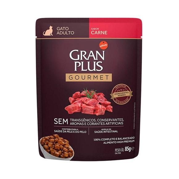 Ração Úmida Gran Plus Sachê Gatos Adultos Carne - 85g