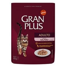 Ração Úmida Gran Plus Sachê Gatos Adultos Salmão - 85g