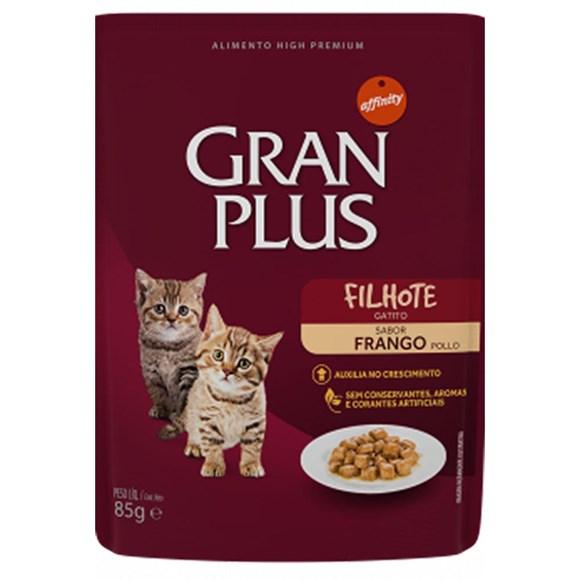 Ração Úmida Gran Plus Sachê Gatos Filhotes - 85g