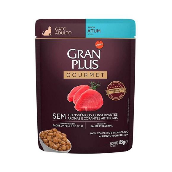 Ração Úmida Gran Plus Sachê Gatos Gourmet Adultos Atum - 85g