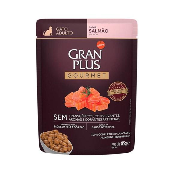 Ração Úmida Gran Plus Sachê Gatos Gourmet Adultos Salmão - 85g