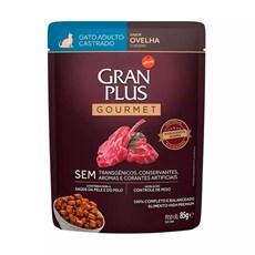 Ração Úmida Gran Plus Sachê Gatos Gourmet Castrados Ovelha - 85g
