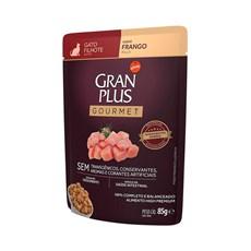Ração Úmida Gran Plus Sachê Gatos Gourmet Filhotes Frango - 85g