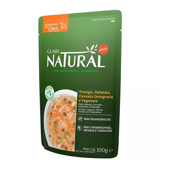 Ração Úmida Guabi Natural Sachê Cães Adultos Salmão e Cereais - 100g