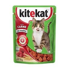 Ração Úmida Kitekat Sachê Gatos Adultos Carne - 70g