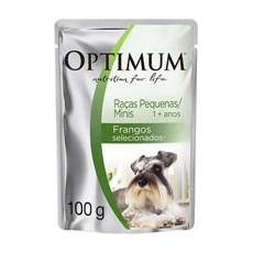 Ração Úmida Optimum Sachê Cães Adultos Rp e Minis Frango – 100g